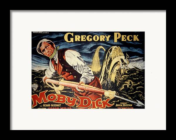 1950s Poster Art Framed Print featuring the photograph Moby Dick, Gregory Peck, 1956 by Everett