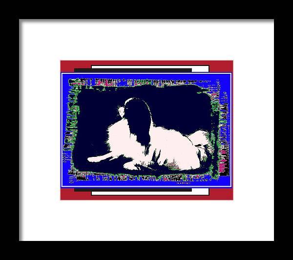 Mod Dog Framed Print featuring the digital art Mod Dog by Kathleen Sepulveda