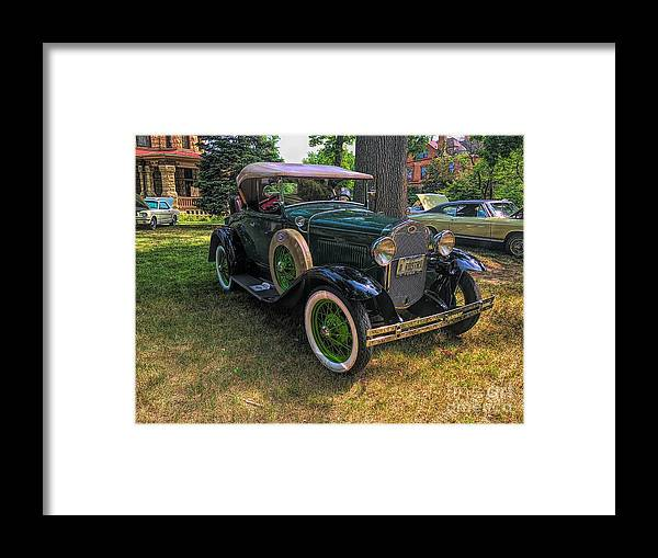 Model A Ford Framed Print featuring the photograph 1928 Model A Ford by Luther Fine Art