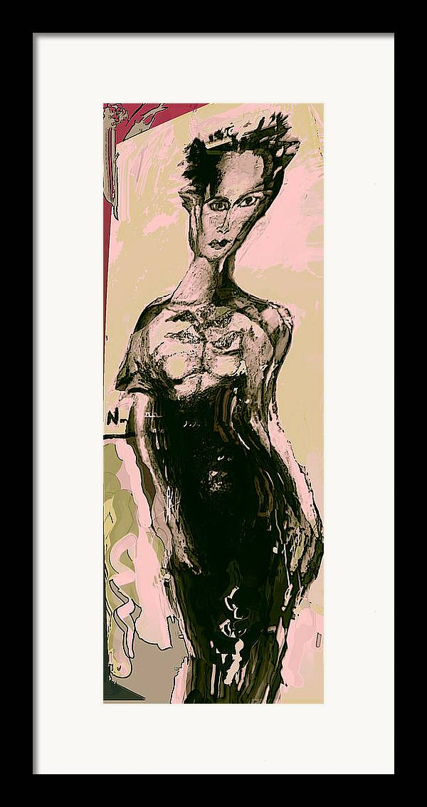 Fashon Framed Print featuring the painting Model IIi by Noredin Morgan
