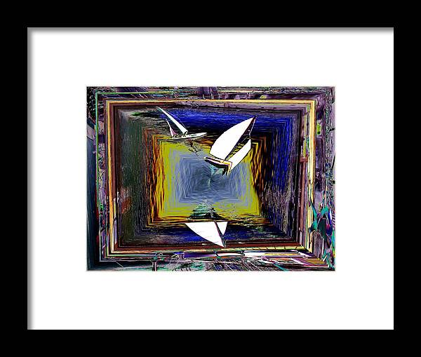 Sail Framed Print featuring the digital art Model Sailboats by Tim Allen