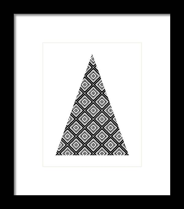 Modern Black And White Tree 1- Art By Linda Woods Framed Print by ...