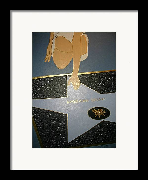 Star Framed Print featuring the painting Modern Dreamcatcher by Ingrid Stiehler