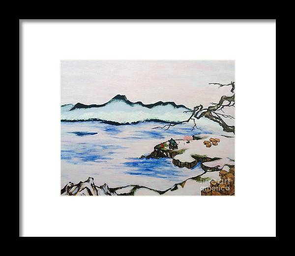 Modern Japanese Art In The Shadow Of The Past - Utsumi And Kano School  Framed Print
