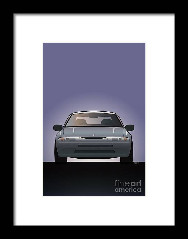 Car Framed Print featuring the digital art Modern Japanese Icons Subaru Alcyone Svx by Monkey Crisis On Mars