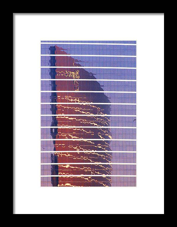 Cityscape Framed Print featuring the photograph Modern Reflections In Sin City by Richard Henne