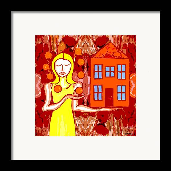 Woman Framed Print featuring the painting Modern Woman by Patrick J Murphy