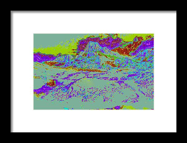 Framed Print featuring the digital art Modified Mountain Ddd4 by Modified Image