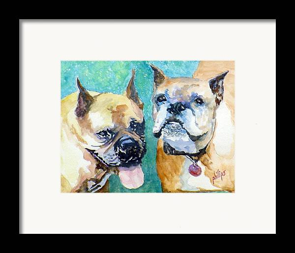 Boxers Framed Print featuring the painting Mojo And Tazmo by Jim Phillips