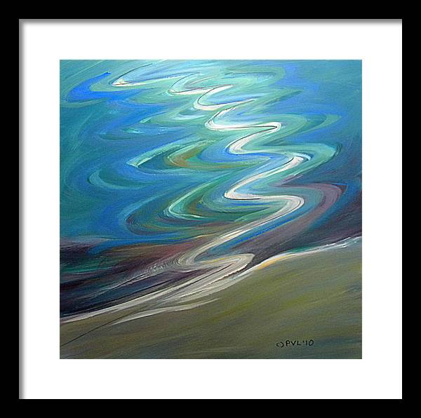 Water Framed Print featuring the painting Molalla River Shore 1 by Pam Van Londen