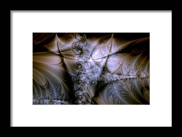 Chocolate Framed Print featuring the digital art Molecular Cacao by Casey Kotas