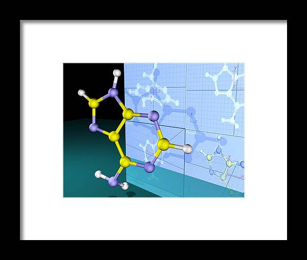 Adenine Framed Print featuring the photograph Molecular Design by Pasieka