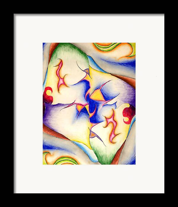 Mirrored Framed Print featuring the drawing Molecule Of A Mirror by Nathaniel Hoffman