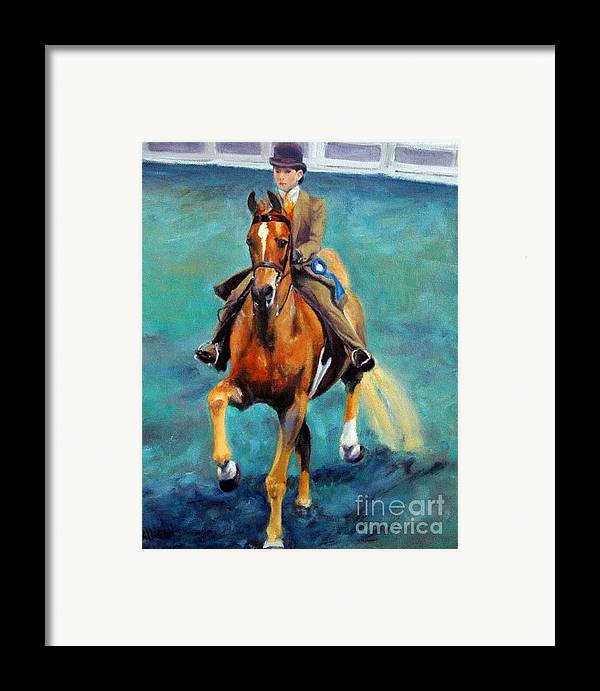 Portrait Framed Print featuring the painting Mollie And Petite Princess by Stephanie Allison