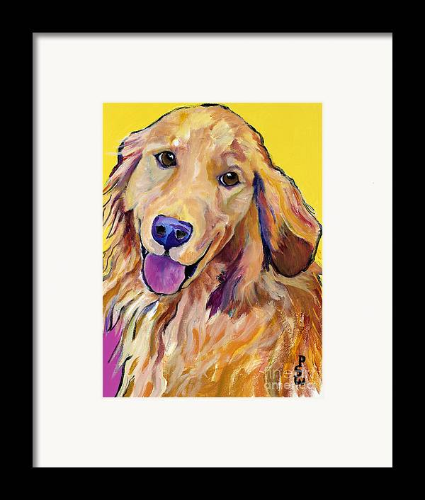 Acrylic Paintings Framed Print featuring the painting Molly by Pat Saunders-White