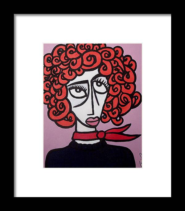 Portaits Framed Print featuring the painting Molly by Thomas Valentine