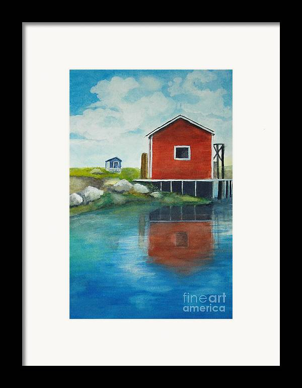 Landscape Framed Print featuring the painting Molly by Vivian Mosley