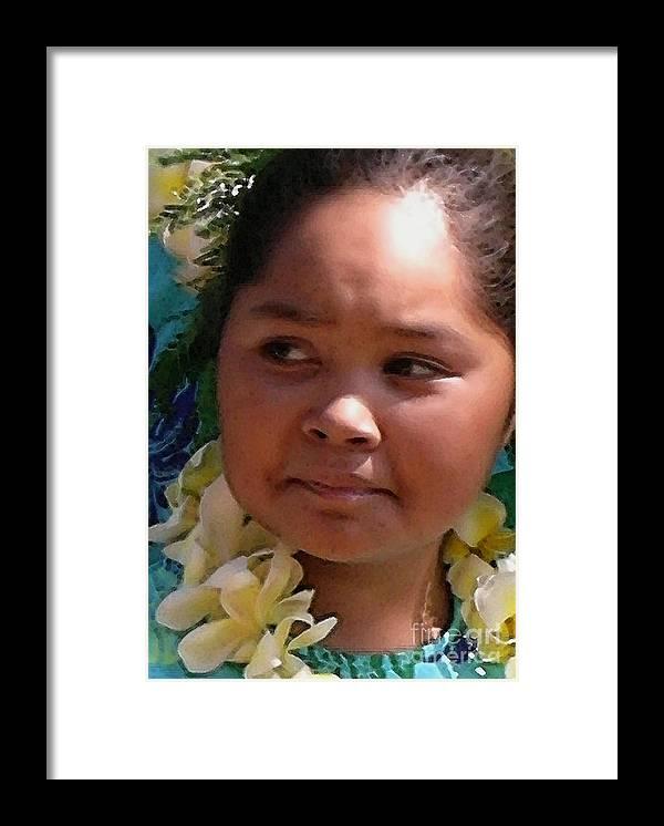 Hawaii Framed Print featuring the photograph Molokai Kaikamahine by James Temple
