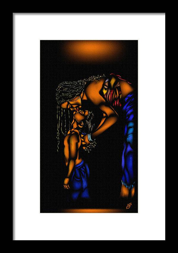 Framed Print featuring the mixed media Mom 3 by Anthony Crudup