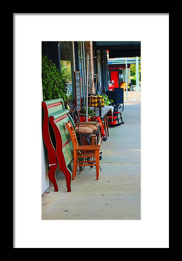 Shopping Framed Print featuring the photograph Mom And Pop Shops by Christine Townsend
