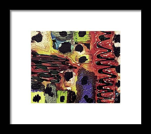 Keith Elliott Framed Print featuring the painting Mom, I Got Sick - V1llwa100 by Keith Elliott