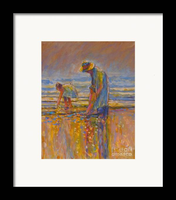 Children Framed Print featuring the painting Mom by Kip Decker