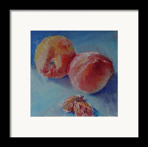 Oil Framed Print featuring the painting Mom Pop And The Kids by Horacio Prada