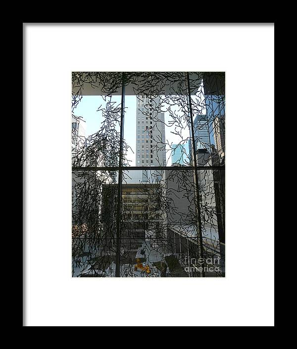 New York Framed Print featuring the photograph Moma Moment by Donna McLarty