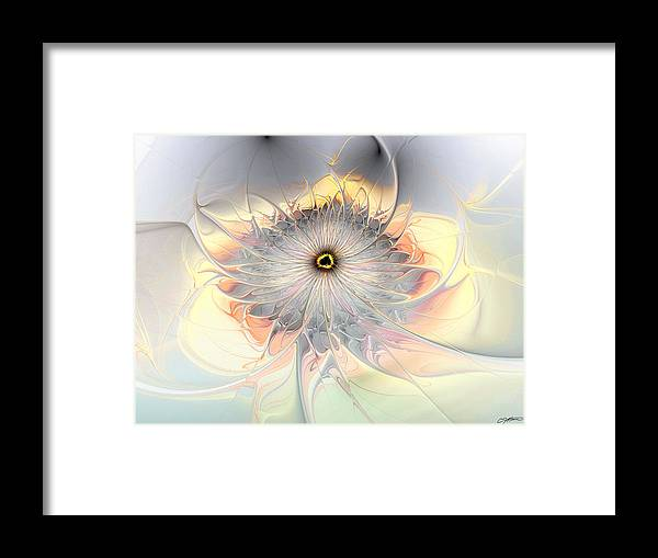 Abstract Framed Print featuring the digital art Momentary Intimacy by Casey Kotas