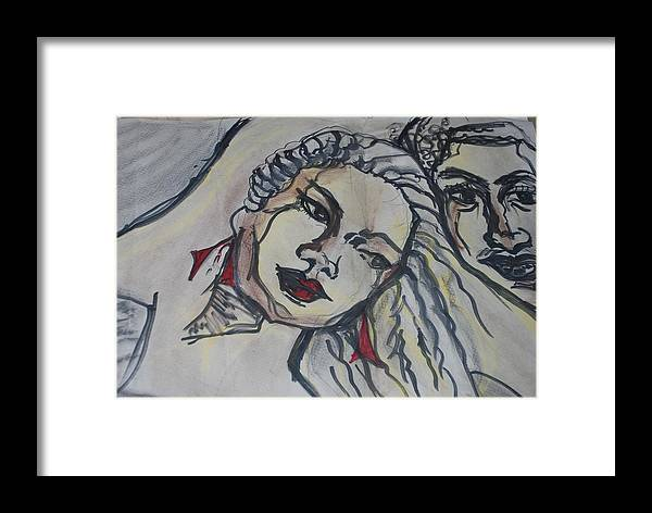 Love. Couple Framed Print featuring the mixed media Moments by Aldonia Bailey