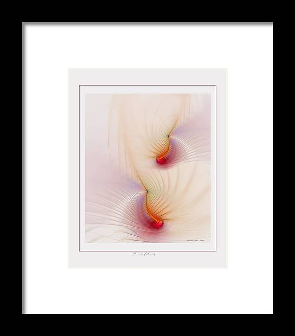 Fractal Framed Print featuring the digital art Moments Of Serenity by Gayle Odsather