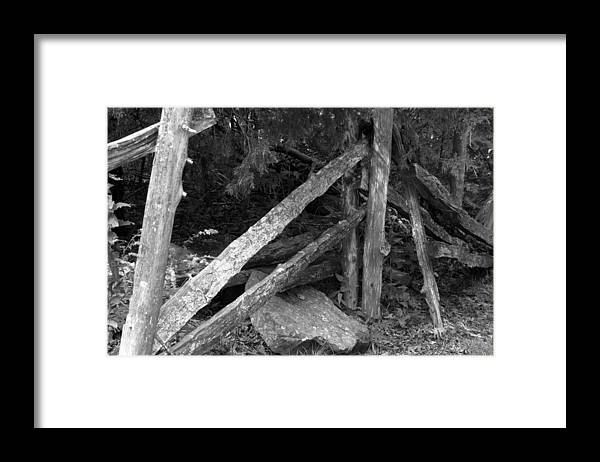 Framed Print featuring the photograph MomVisitCarterLaneFence1 by Curtis J Neeley Jr