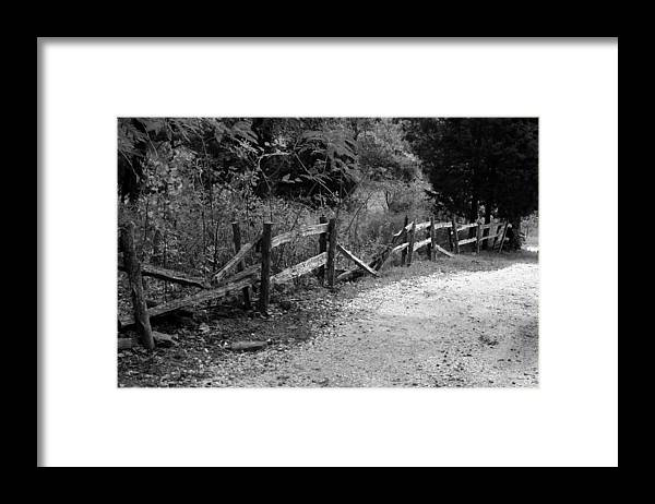 Wood Framed Print featuring the photograph Momvisitcarterlanefence5 by Curtis J Neeley Jr