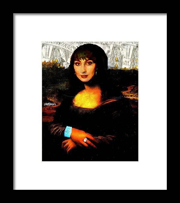 Mona Cher Framed Print featuring the digital art Mona Cher by Seth Weaver