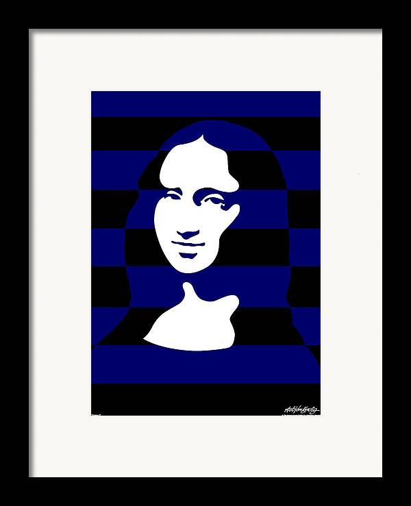 Mona Lisa Framed Print featuring the digital art Mona Lisa by Asbjorn Lonvig