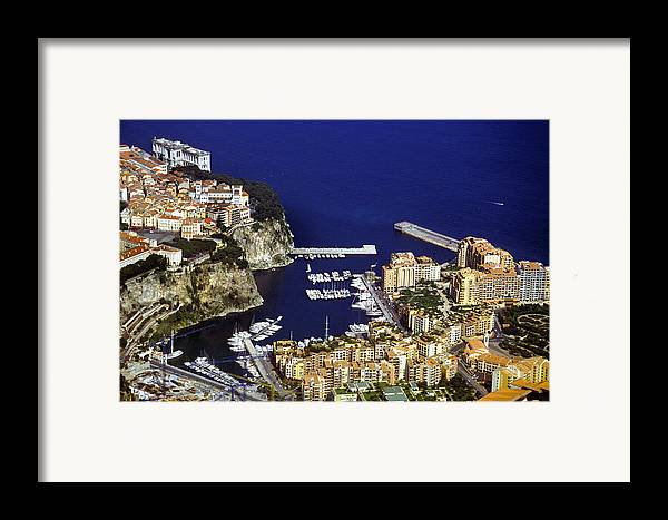 Rich Framed Print featuring the photograph Monaco On The Mediterranean by Carl Purcell