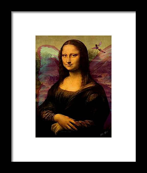 Monalisa Framed Print featuring the painting Monalisa The Fairy by Tray Mead