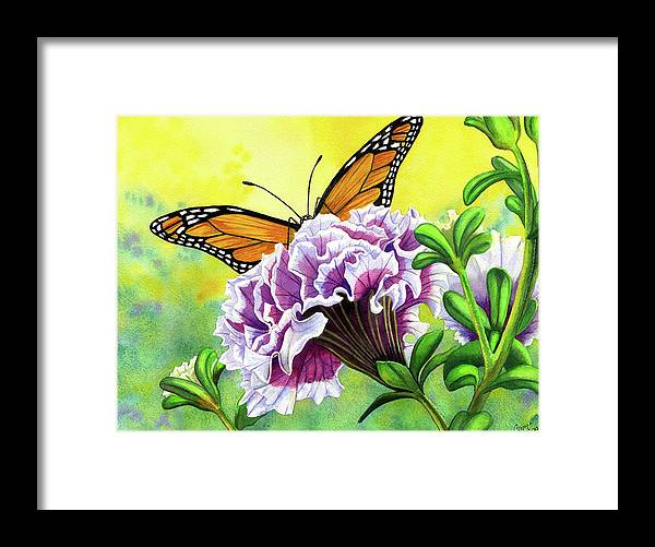 Monarch Framed Print featuring the painting Monarch by Catherine G McElroy