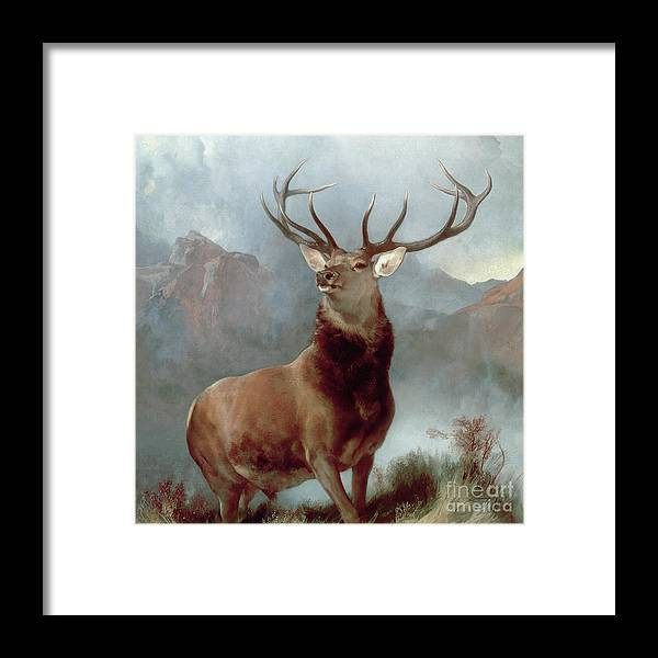 Monarch Framed Print featuring the painting Monarch of the Glen by Sir Edwin Landseer