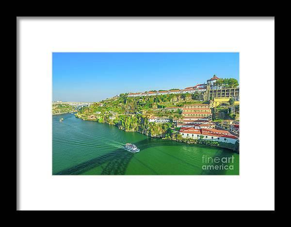 Oporto Framed Print featuring the photograph Monastery Serra Do Pilar by Benny Marty