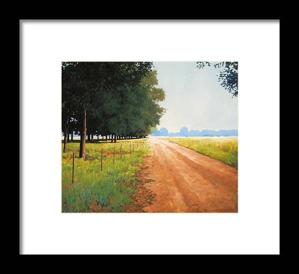 Landscape Framed Print featuring the painting Monday Morning by Kevin Lawrence Leveque