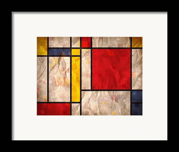 Mondrian Framed Print featuring the digital art Mondrian Inspired by Michael Tompsett