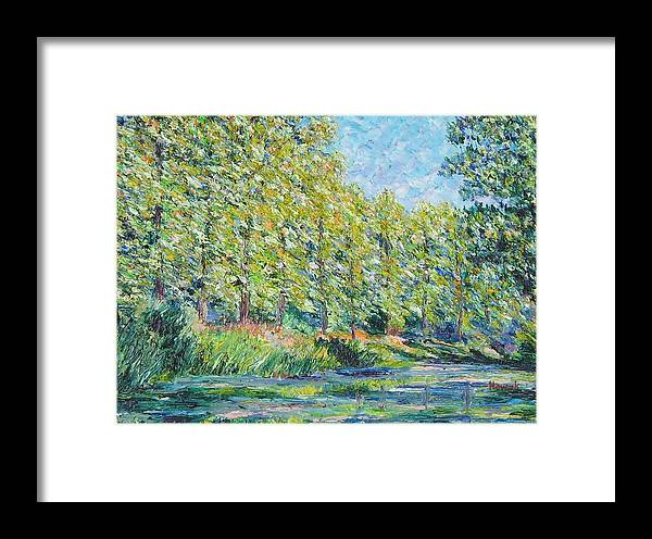 Trees Framed Print featuring the painting Monet by Richard Nowak