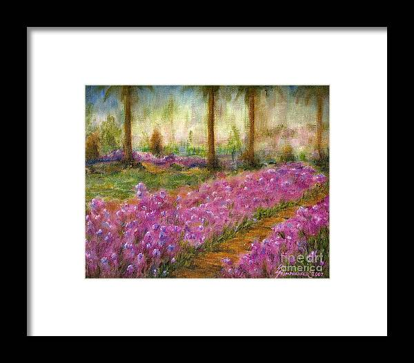 Monet Framed Print featuring the painting Monet's Garden In Cannes by Jerome Stumphauzer