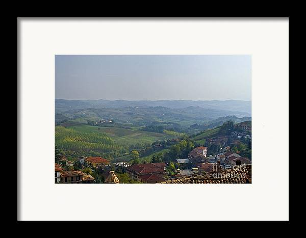 Landscape Framed Print featuring the photograph Monforte - Regione Peimonte by Carl Jackson