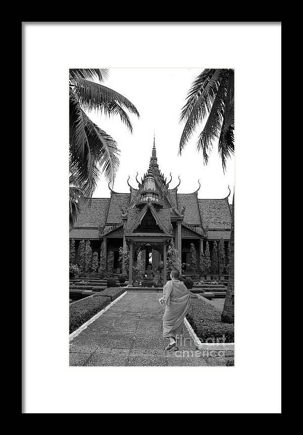 Monk Framed Print featuring the photograph Monk At The Museum by Louise Fahy