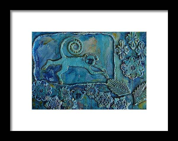 Decorative Framed Print featuring the painting Monk-ease by Lou Cicardo