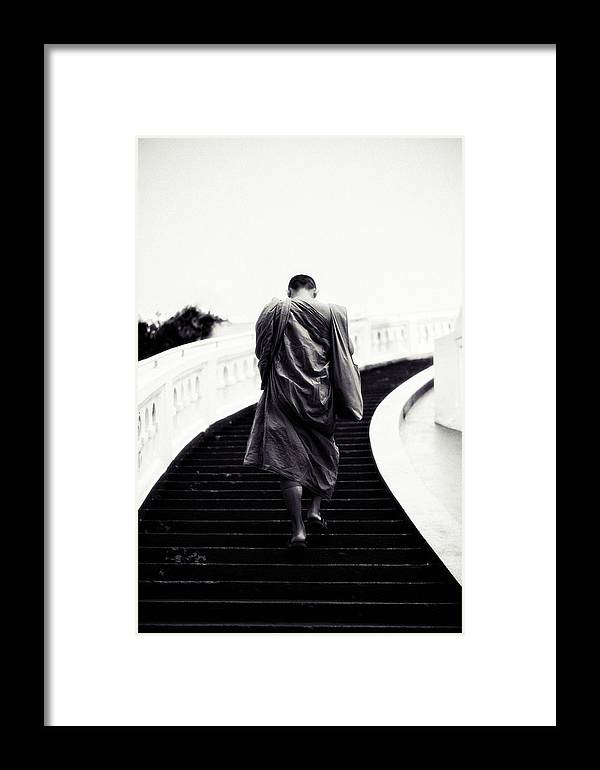 Religion Framed Print featuring the photograph Monk by Jijo George