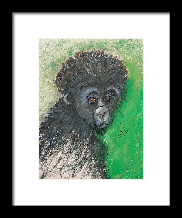 Monkey Framed Print featuring the drawing Monkey Business by Cori Solomon