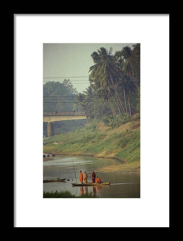Monks Framed Print featuring the photograph Monks - Battambang by Patrick Klauss